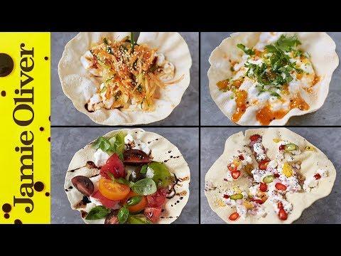 100 Calorie Poppadom Snacks | Jamie Oliver