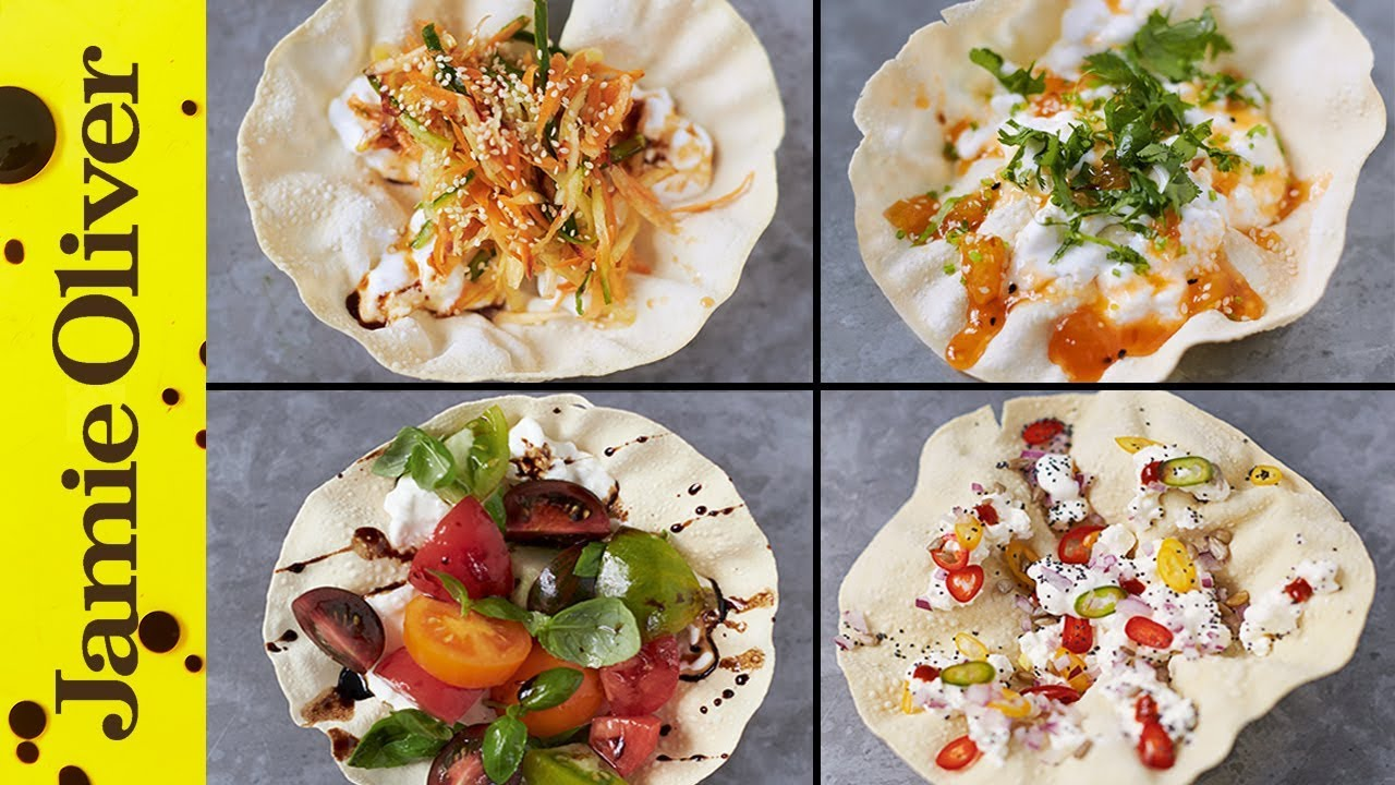 Jamie Oliver Dinner Party Ideas Part - 18: 100 Calorie Poppadom Snacks | Jamie Oliver - YouTube