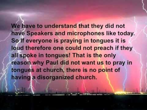 Speaking in Tongues - Biblical Proof - IN CONTEXT! gift of tongues! devil wants to hide it!