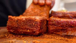 Chad Mendes Makes American Almond Beef SHORT RIBS | [6+ Hours on the Traeger]