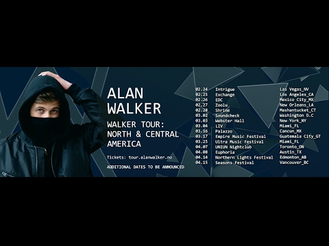 Alan Walker - Walker Tour 2017: North & Central America (Trailer)