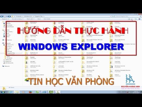 Hướng dẫn thực hành | Giải bài tập Windows Explorer | Tin học văn phòng - Nguyễn Hoàng Anh