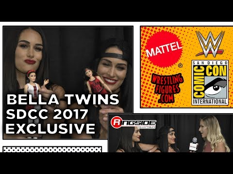 NIKKI AND BRIE BELLA - Mattel WWE Interview at SDCC 2017!