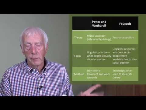 Discourse Analysis Part 1: Discursive Psychology