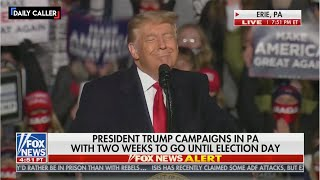 Here's What You Missed During President Trump's Rally In Erie, PA