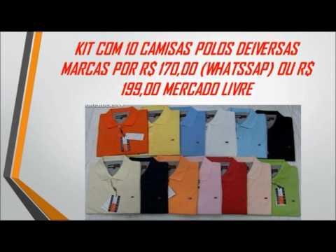 Kit C  10 Camisas Polos Diversas Marcas + FRETE GRÁTIS - R  166 eba02c8b3c176