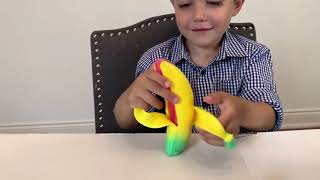 Surprise Toys in our Pumpkin for Kids