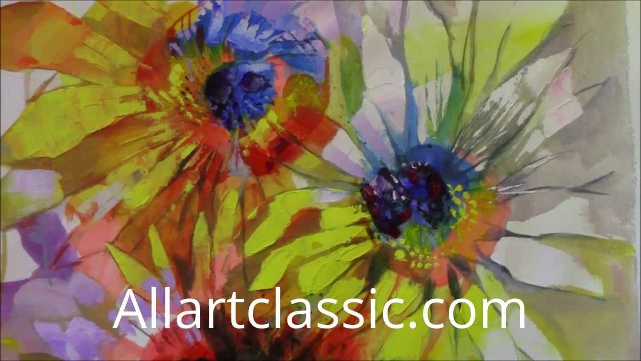 How To Paint Sunflowers In Mixed Media Painting Technique
