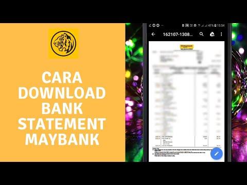 Cara View dan Download Bank Statement Maybank2u