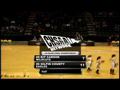 2012 CHSAA Girls Class 1A Consolation Final - Kit Carson Vs Gilpin County