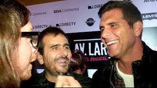 Giovanni Ciccia y Christian Meier - Alfombra roja 'Av. Larco'