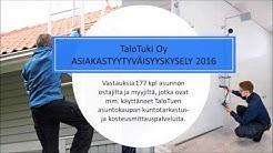 TaloTuki Oy asiakastyytyväisyys 2016