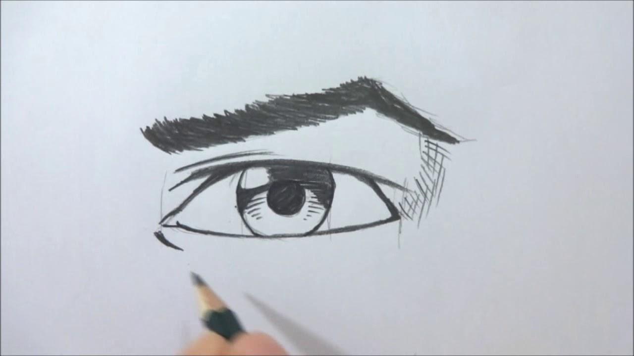 Como Desenhar Olhos Masculinos