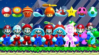 Super Mario Maker 2 - All Power-Ups in Night Mode