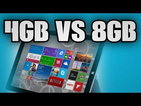 Surface Pro 3: 4GB vs 8GB RAM