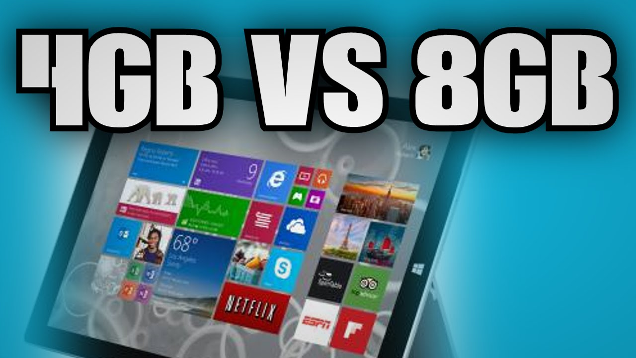 Surface Pro 3 4gb Vs 8gb Ram Youtube