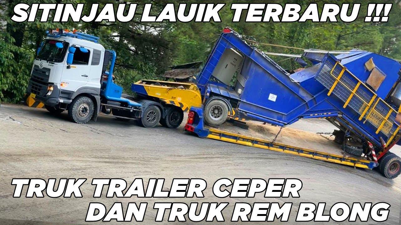 NGILU !!! Detik Detik Truk Trailer Ceper Gasruk Dan Truk Tabrak Mobil HRV di Sitinjau Lauik Terbaru