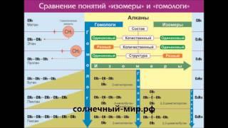 """Видео обзор - Таблица демонстрационная """"Сравнение понятий изомер и гомолог"""" (винил 100х140)"""