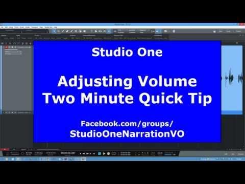 Adjusting Volume - Studio One - Quick Tip
