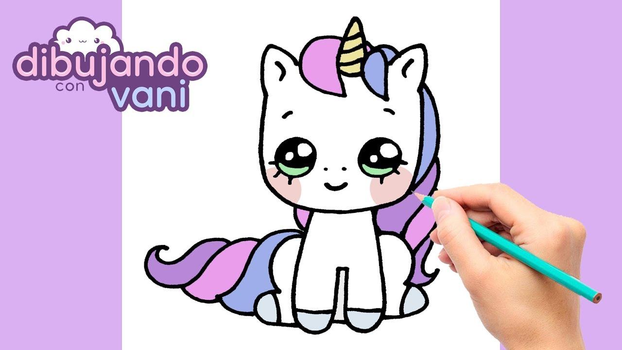 Como Dibujar Un Unicornio Paso A Paso Dibujos Kawaii Dibujos Faciles How To Draw Unicorn Youtube