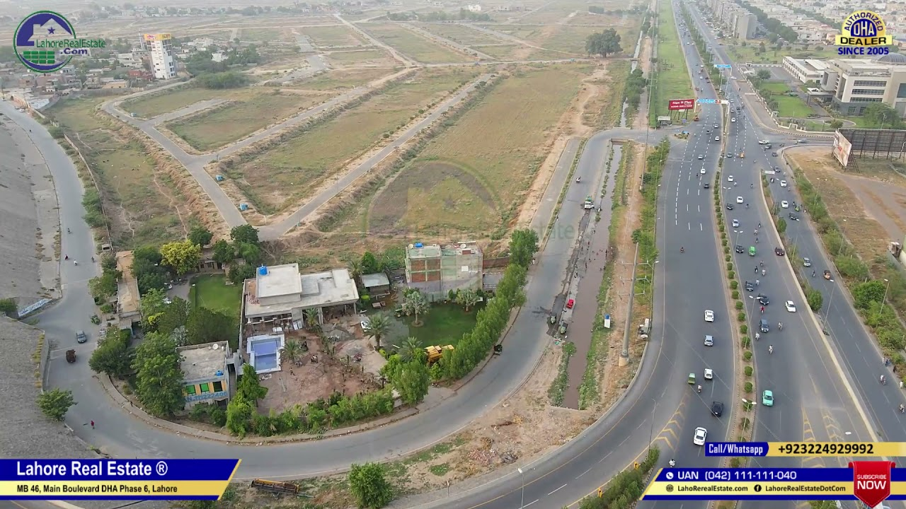 DHA Phase 8 Lahore X-Block | Current Prices & New Developments Update | Drone Video | June 2021