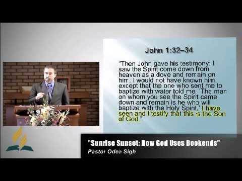 "August 31st 2013: ""Sunrise Sunset: How God Uses Bookends"""