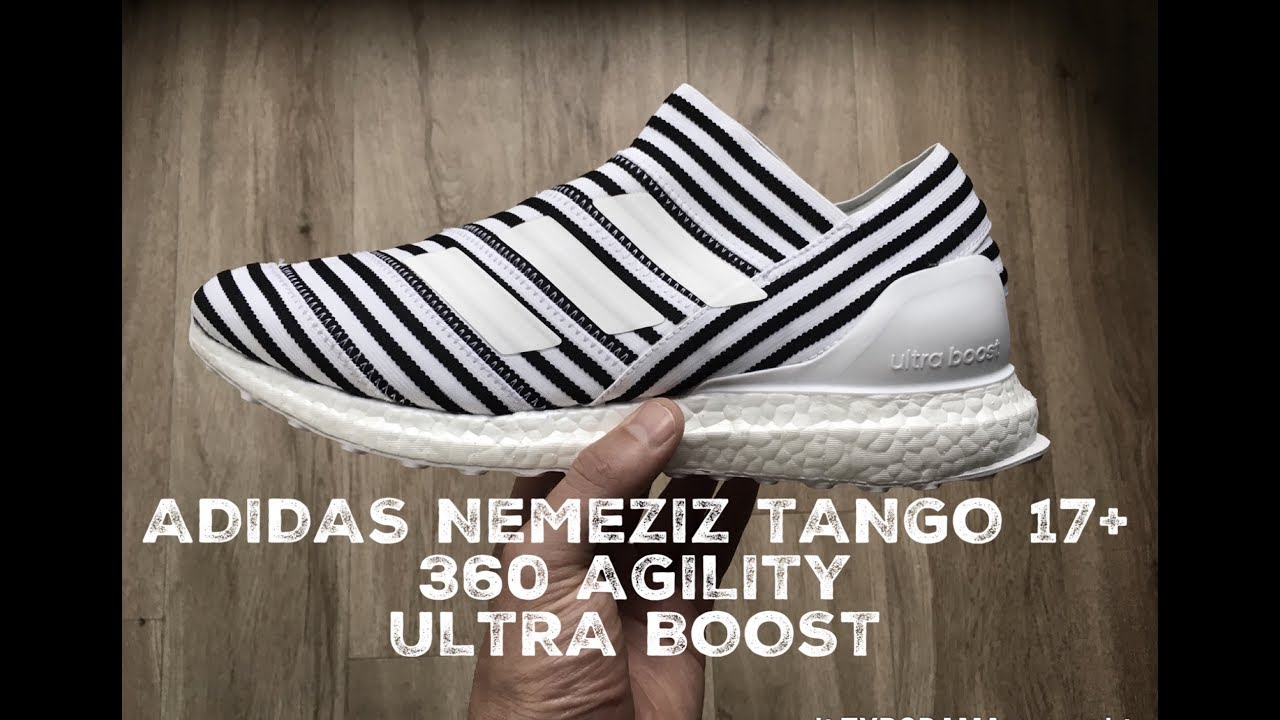 5010b0991 Adidas NEMEZIZ Tango 17+ 360 AGILITY 'white/black' | UNBOXING & ON FEET |  fashion shoes | 2017 | HD