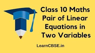 NCERT 10th Maths Pair of Linear Equations in Two Variables Exercise 3.1 Question 1