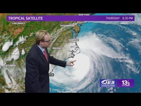 Tropics Update: Tracking Hurricane Florence, Thursday, September 13, 2018