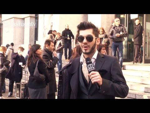 Anna Dello Russo on Salvatore Ferragamo Fall 2012 at Milan Men's Fashion Week | FashionTV - FTV