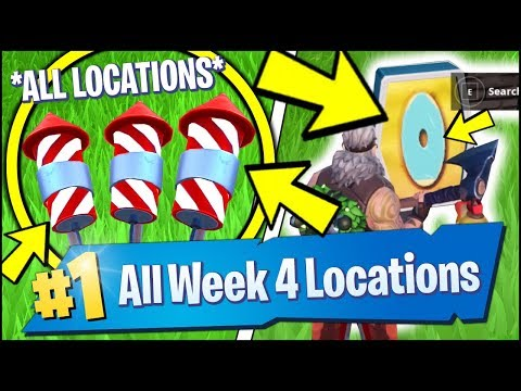 *ALL* Fortnite WEEK 4 CHALLENGE LOCATIONS | LAUNCH FIREWORKS, LETTERS, EXPEDITION (Season 7 Week 4)