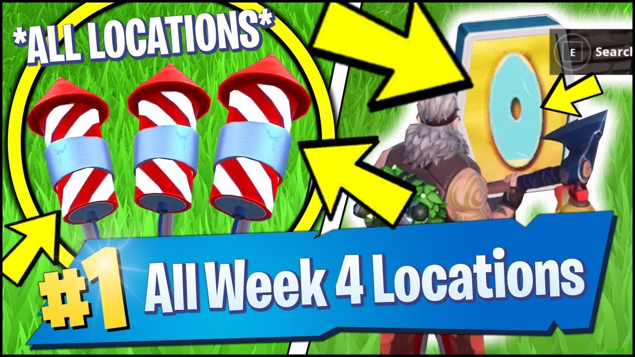 All Fortnite Week 4 Challenge Locations Launch Fireworks Letters