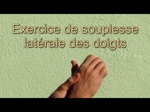 Exercice de travail de la souplesse latérale des doigts ...