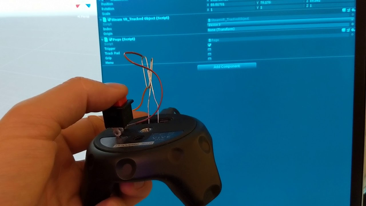 Vive Trackers Pogo Pins and Button
