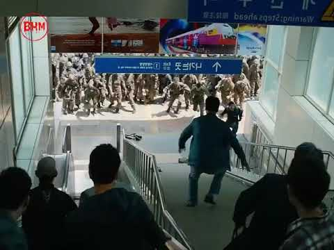 Deadly Scene Of The Movie Train To Busan (horror Zombie Movies Scene)