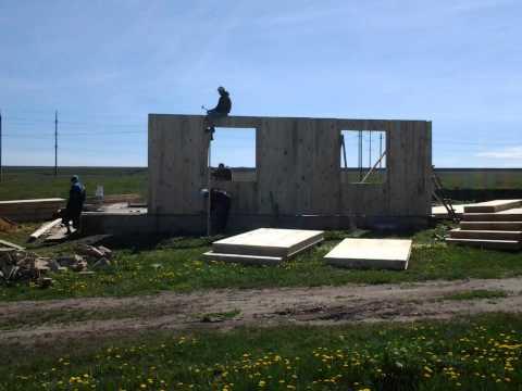 как мы строили панельно щитовой дом