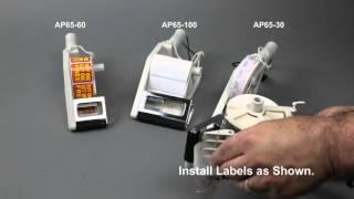 tach it ap65 30 ap65 60 and ap65 100 hand held label applicators