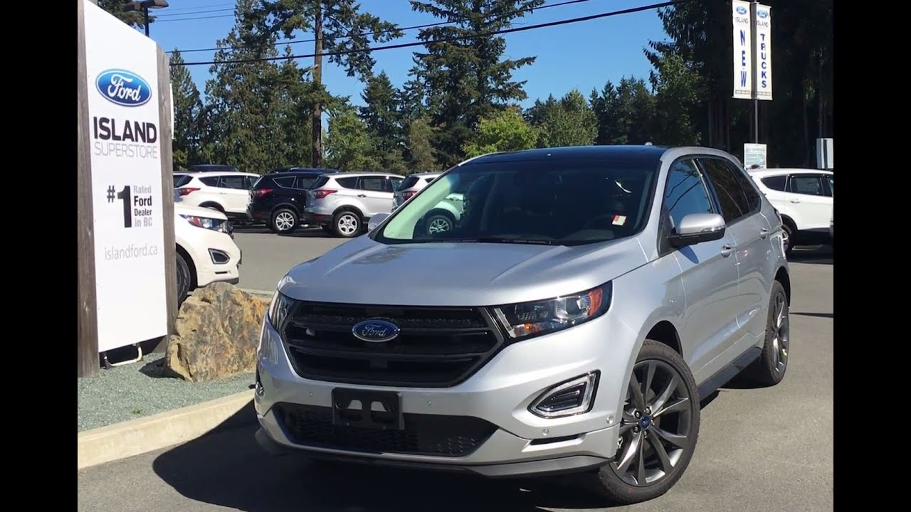 2016 ford edge sport ebony perforated suede seats review island ford youtube. Black Bedroom Furniture Sets. Home Design Ideas