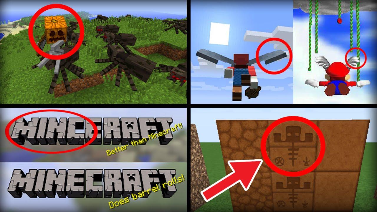 15 Secret Hidden Easter Eggs in Minecraft - YouTube