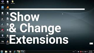 show file extension and change file extension