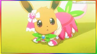 Pokemon Temporada 19 XYZ Eevee Humo Mejor momento