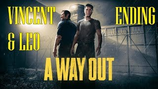 A Way Out - Cinematics For Both Endings, Vincent And Leo | With Dylan!