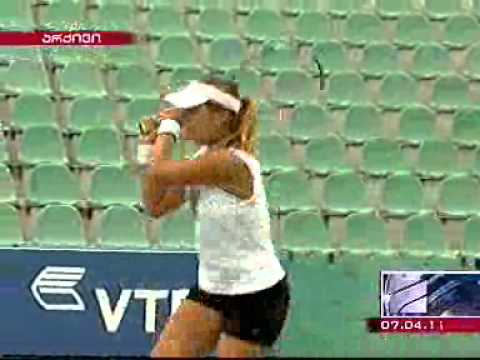 Georgian tennis player defeats Russian rival in Charleston