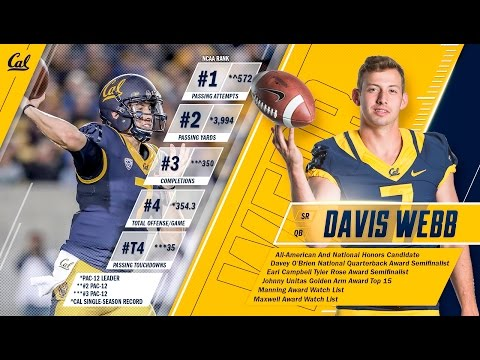 Cal Football: 2016 National Honors And All-American Candidate Davis Webb Highlights