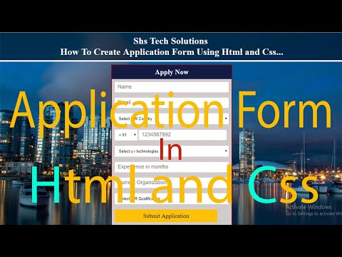 How To Create Application Form In Html Css | Application Form Design In Html and Css thumbnail