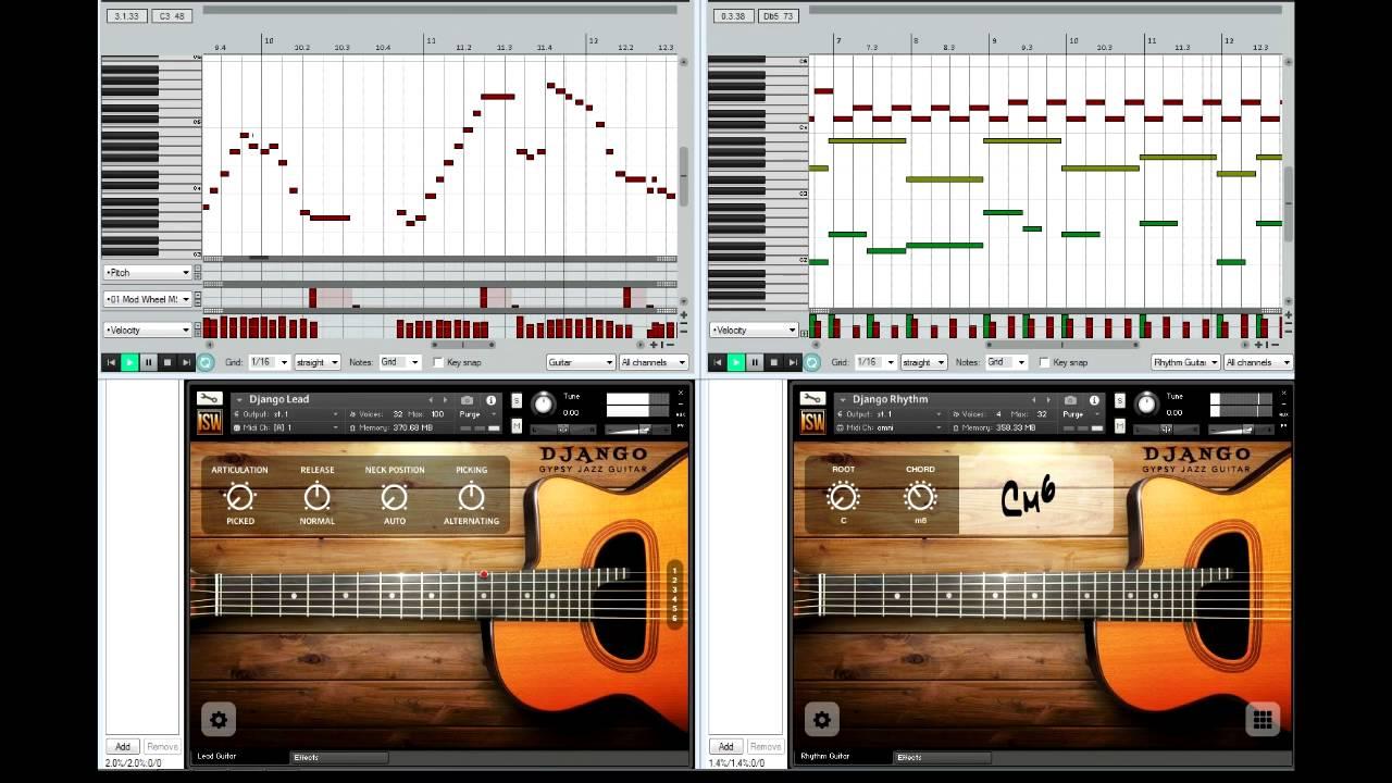 Django: Gypsy Jazz Guitar, sample library for NI Kontakt (1) - YouTube