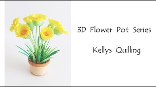 3D Quilling Flower Pot Series   Quilling Flower Pot 8