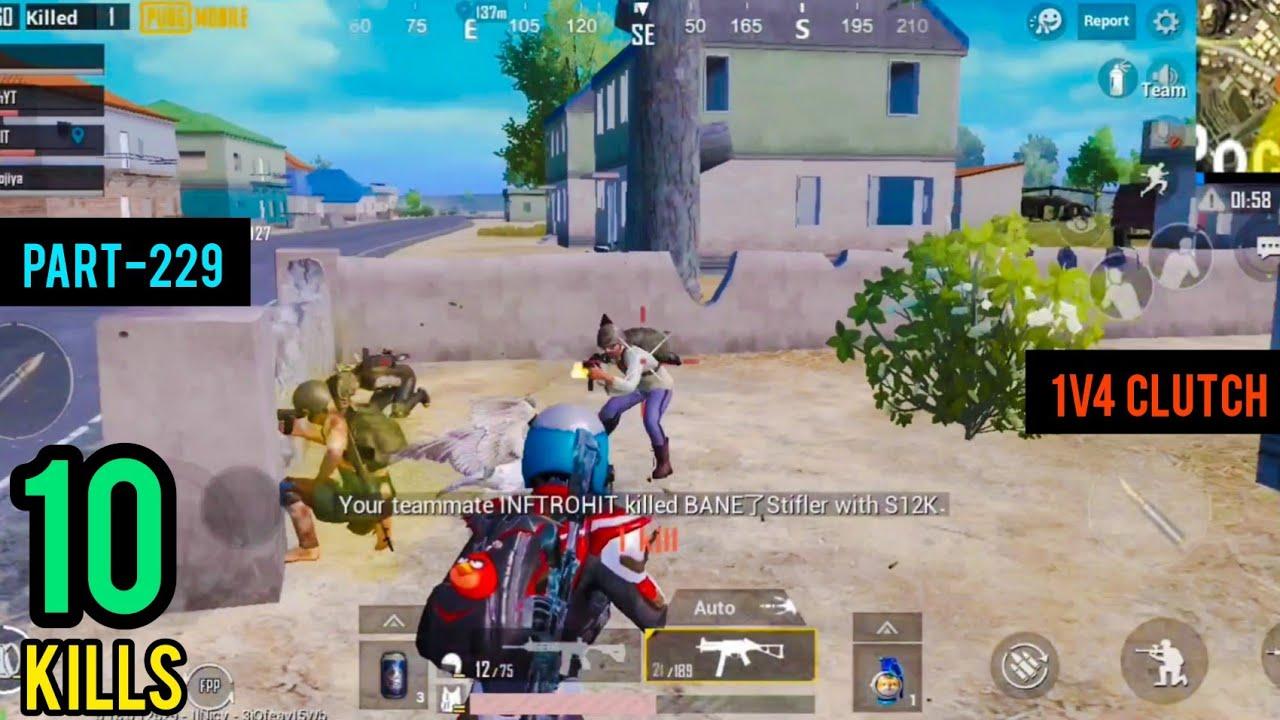 1V4 Clutch | Squad Erangel Gameplay | Pubg Mobile - AkhiLesh YT