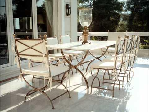Classy luxury steel furniture design wrought iron