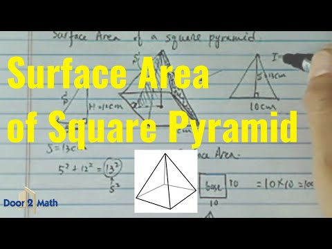 Surface area of square pyramid height is 12cm the slant line is surface area of square pyramid height is 12cm the slant line is 13cm and the base is 10cm youtube ccuart Choice Image
